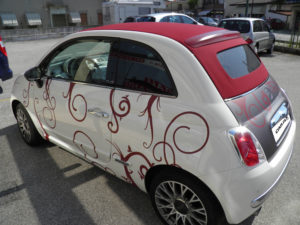 Car Wrapping 500 cabrio