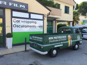 Car Wrap Wrapping Furgone Verde