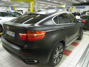 BMW x6 wrap Nero opaco